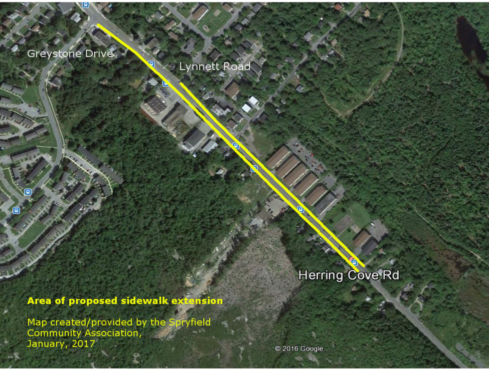 Herring Cove Road Proposed Sidewalk